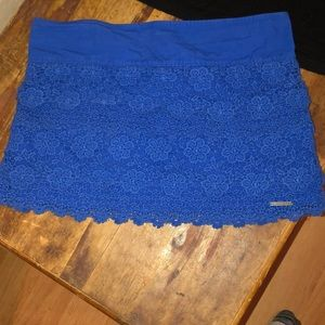 Abercrombie & Fitch Skirts - Abercrombie & Fitch Black Crop-top & Blue Skirt